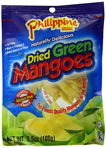 Philippine Brand Dried Green Mango, 3.5 Ounce Pouches, 100g, (Pack of 25) (Green Mango Fruit compare prices)