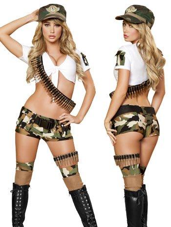 [Sassy Army Brat Costume - Medium/Large - Dress Size 6-10] (Adult Army Brat Costumes)