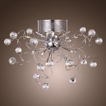 LightInTheBox® 9 Light Flush Mount Crystal Ceiling Light in Polished