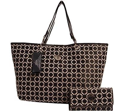 Tommy Hilfiger Women Large Tote Bag (Large, Black)