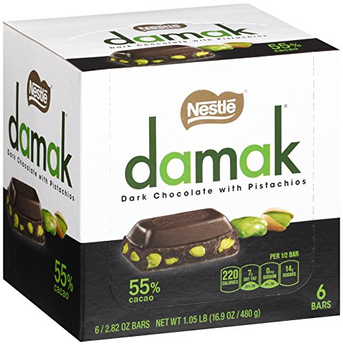 NESTLE Damak Dark Chocolate with Pistachios, 2.82 Ounce (6 Bars) (Pistachio Chocolate compare prices)