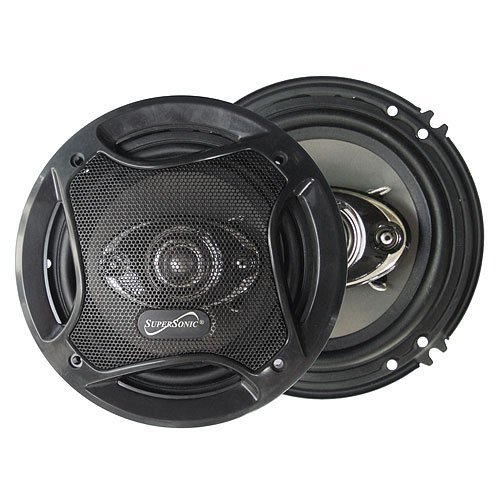 "Supersonic Sc-6502 6.5"" 4-Way Coaxial Speaker System With 500W Peak Power"