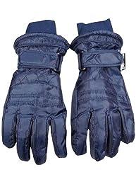 Winter Warm-Up - Big Boys Ski Gloves, Navy 33079-Medium