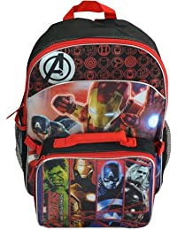 "Backpack - Marvel - Avengers 16"" W/ Lunch Bag New IGCK"