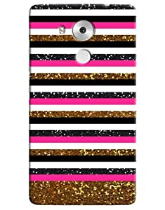 Omnam White Stripes And Other Color Combination Printed Back Cover Case For Huawei Honor Mate 8