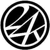 (24カラッツ) 24KARATS ROUND STICKER 24カラッツ ラウンド ステッカー STICKER 852128-BK×WH F ブラック×ホワイト