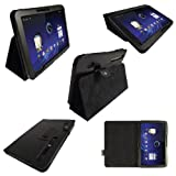IGadgitz Black PU Leather Case Cover for Motorola Xoom Android Tablet + Screen Protector