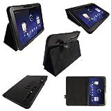 igadgitz PU Leder Tasche Schutzhülle Etui Case Hülle in Schwarz für Motorola Xoom Android Tablet mit integriertem Stand