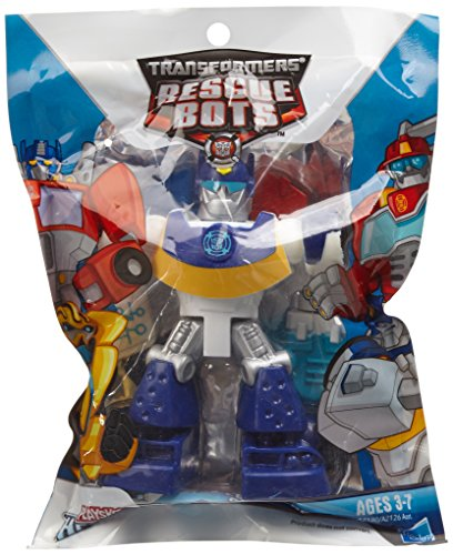 Playskool Heroes, Transformers Rescue Bots Figure, Chase the Police-Bot, 3.5 Inches