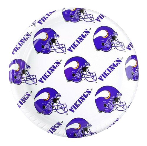 NFL Minnesota Vikings Disposable Plastic Plates (12 Pack)
