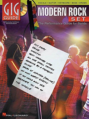 Gig Guide Modern Rock Set Vocals Guitar Keyb. Bass Drums CD (Gig Guide Book & CD)