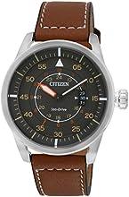 Comprar Citizen  AW1360-12H - Reloj de cuarzo para hombre, con correa de cuero, color marrón