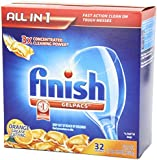 Finish Gelpacs New Value Size Package, Dishwasher Detergent, Orange Scent, 270 Count Size