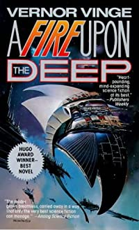 book cover of A Fire Upon the Deep.