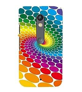 MULTICOLOURED CIRCULAR ELIPTICAL PATTERN 3D Hard Polycarbonate Designer Back Case Cover for Motorola Moto X Play