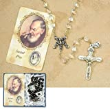 Blessed by Pope Benedetto XVI Vintage Inspirations Rosaries Padre Pio, Saint Pio J-316
