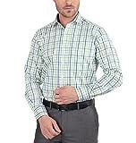 JHAMPSTEAD Men's Cotton Formal Shirt (JHL2204F_GREEN_40)