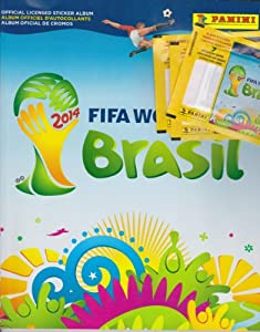2014 Panini FIFA World Cup Soccer Sticker Combo (50 packs & 1 album)