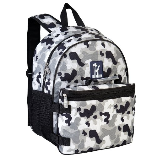 Wildkin Gray Camo Bogo Backpack with Lunch Bag, One Size