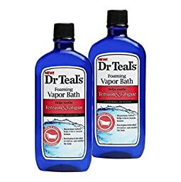 Dr. Teals Foaming Vapor Bath For Stress & Fatigue (Tension & Fatigue, 2 Bottles)