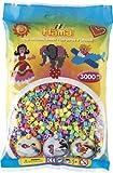 HAMA 201-50 Pastell / Kopfkarte - Perlen pastellfarben, 3000 Stück hergestellt von Hama