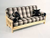 Hot Sale Mission Futon Frame - with 8inch Quality Futon Mattress - Full Size