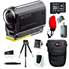 Sony HDR-AS20/B POV Action Cam with Wi-Fi/ NFC and 1080/ 60p HD + Sony 16GB micro SDHC memory card + Focus Multi Card Reader + Focus Float Strap + Accessory Bundle