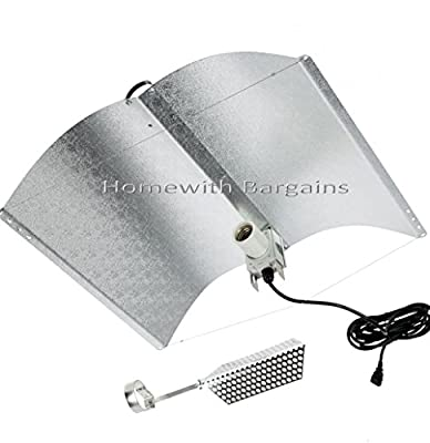Large Omega ADJUST A WING Grow Light Reflector Shade includes Heat Shield