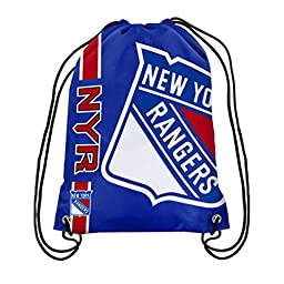 Official National Hockey League Fan Shop Authentic Drawstring NHL Back Sack (New York Rangers)