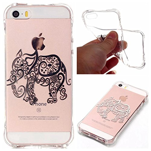 tkshop-premium-accessory-set-for-iphone-se-5-5s-case-bronzing-printing-soft-silicone-clear-transpare