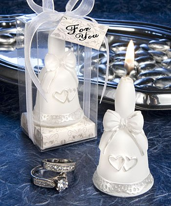 Set of 60 Wedding Bells Collection candle favor