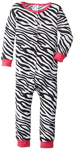 Gerber Baby-Girls Infant 1 Piece Girl Thermal Unionsuit, Zebra, 12 Months back-1003817