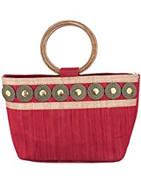 Sunbeams Ethnic Coin Bangle Hand-Held Bag (Red)