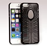 GreatShield TACT Series Design Pattern Rubber Coating Ultra Slim Fit Hard Case Cover for Apple iPhone 5 / 5S (Ocellus – Black) Reviews