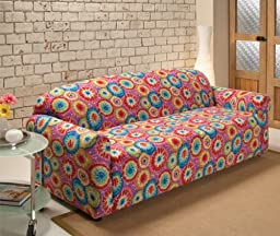 Madison Industries JER-SOFA-TD Stretch Jersey Slipcover Sofa - Tie Dye