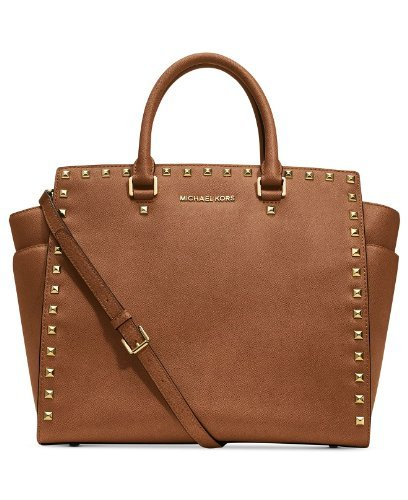 Michael Kors Handbag Selma Stud Tote Luggage