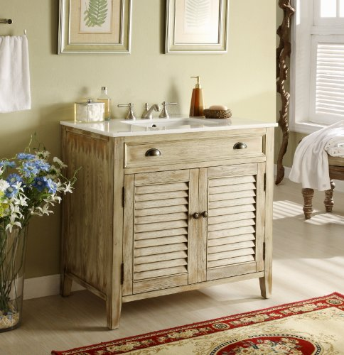 "Buy Cheap 36"" Cottage look Abbeville Bathroom Sink vanity Model CF28324"