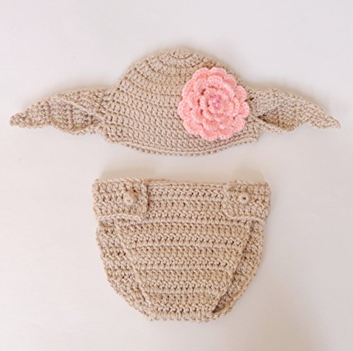 [Dobby The House Elf Hat And Diaper Cover From Harry Potter For Girl- Newborn - Halloween / Cosplay / Baby Shower] (Dobby Harry Potter Costumes)