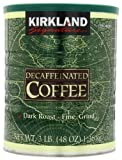 Kirkland Signature Dark Rost Fine Grind Decaf Arabica Coffee,  48 Ounce