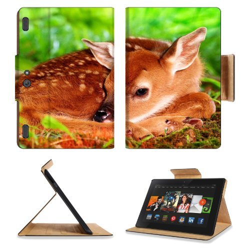 Deer Baby Bambi Rest Sleep Amazon Kindle Fire Hdx 8.9 [2013 Version] Premium Deluxe Pu Leather Flip Case Stand Magnetic Cover Open Ports Customized Made To Order Support Ready 9 13/16 Inch (250Mm) X 6 7/8 Inch (175Mm) X 11/16 Inch (17Mm) Liil Professional