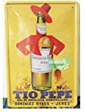 Metal poster tin sign vintage retro funny old Tio Pepe poster