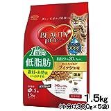 箱売り ビューティープロ キャット 低脂肪 成猫用 フィッシュ味 1.5kg(300g×5袋) キャットフード お買い得6袋