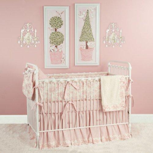 Baby Toile Pink Crib Bedding