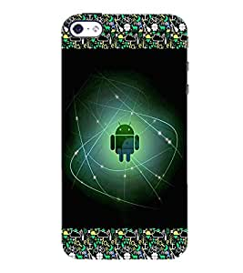 PrintDhaba Android D-2511 Back Case Cover for APPLE IPHONE 5S (Multi-Coloured)