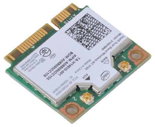 Intel Dual Band Wireless Ac + Bluetooth Mini Pcie Card Supports 2.4 And 5.8Ghz B/G/N/Ac Bands