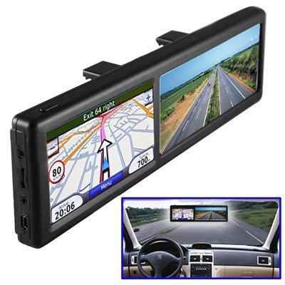 BW-Rckspiegel-mit-gps-Navigation-KFZ-Bluetooth-Hands-free-Calling-integriertem-4-GB-Europa-Karten