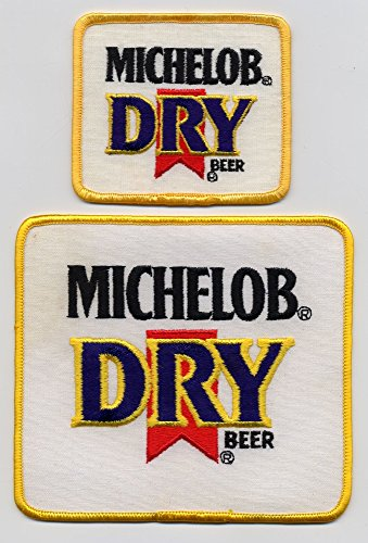 michelob-brewing-company-set-of-two-michelob-dry-beer-patches