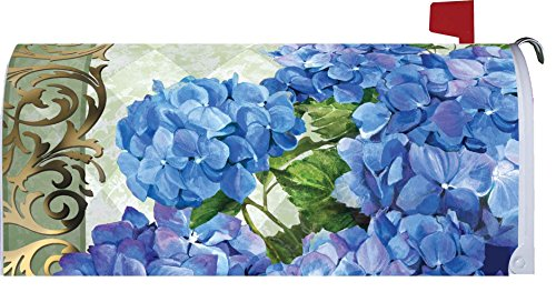 """ Blue Hydrangeas "" - Mailbox Makeover - Vinyl Magnetic Cover"