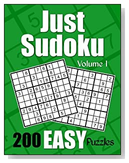 Just Sudoku Easy Puzzle Book - Volume 1
