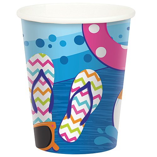 Splash Bash Birthday Cups Package of 8
